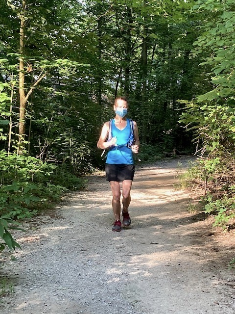 Runner on a trail