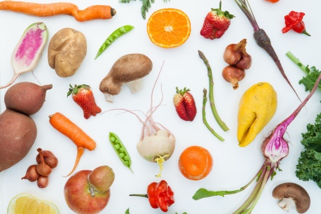 graphic with fruits and vegtables