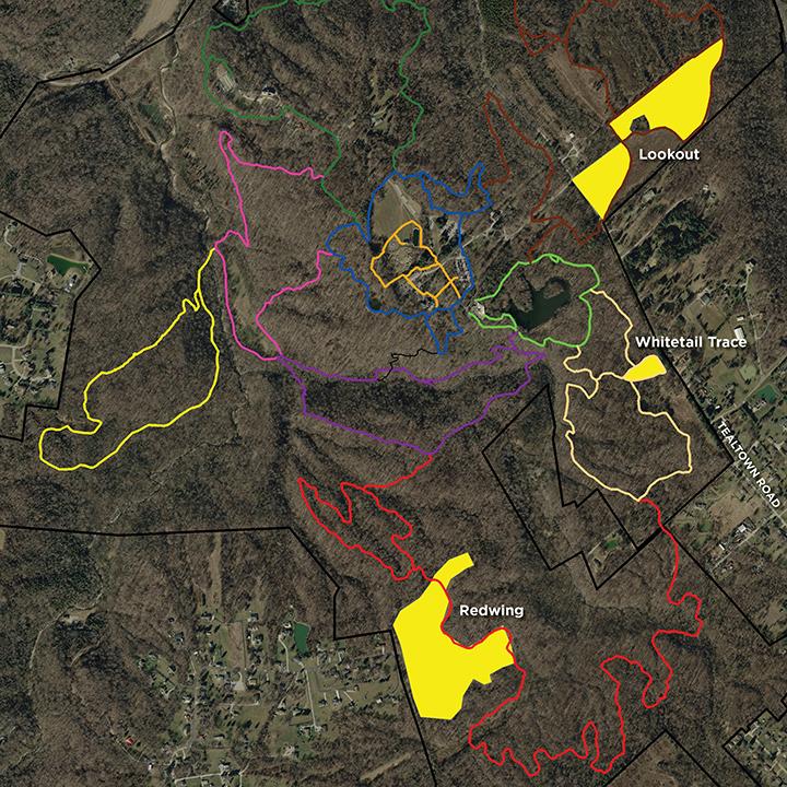 Map of burn sites